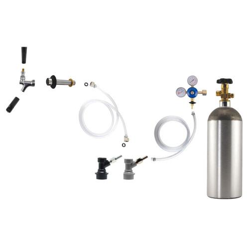 Homebrew Kegerator Conversion Kit (Ball Disconnects w/ 5lb CO2 Tank)