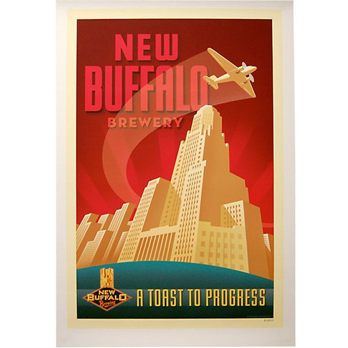 New Buffalo Brewing Co. Poster - A Toast to Progress