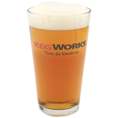 KegWorks Tools For Drinking Pint Glass - 16 oz