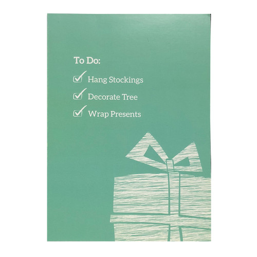 Holiday Greeting Card - To Do List - Santa Needs A Drink