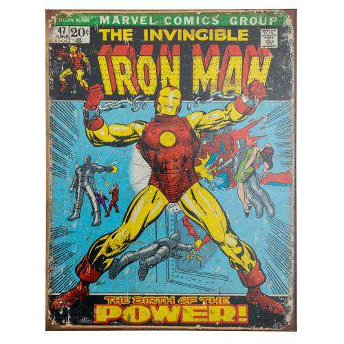Iron Man Retro Metal Bar Sign