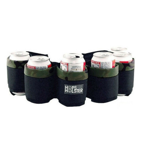 Hops Holster Beer Can Belt - Holds 6 Cans - Camo