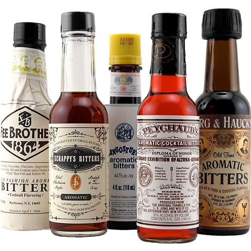 Aromatic Cocktail Bitters Collection - Set of 5