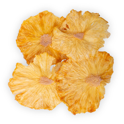 Blue Henry Dehydrated Pineapple Cocktail Garnish - Dried Pineapple Wheels - 3 oz Pouch