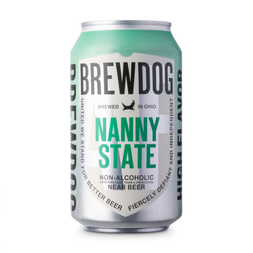Brewdog Nanny State Pale Ale Non-Alcoholic Near Beer - 12 oz Can
