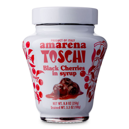 Toschi Italian Amarena Black Cherries In Syrup - 8.8 oz Jar