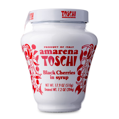 Toschi Italian Amarena Black Cherries In Syrup - 17.9 oz Jar