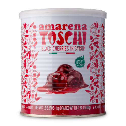 Toschi Italian Amarena Black Cherries In Syrup - 2.2 lb Can
