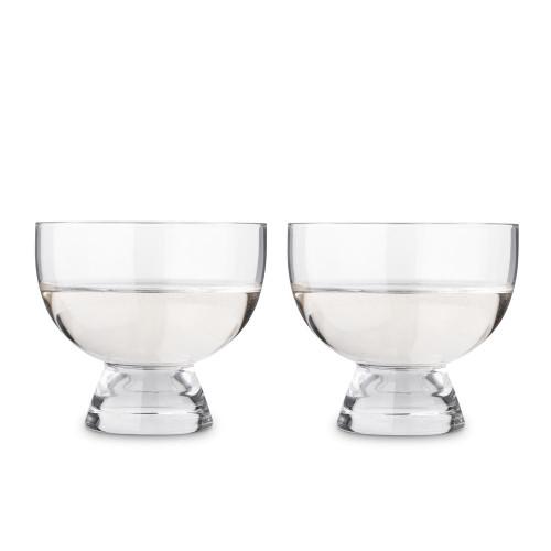 Viski Crystal Footed Mezcal Glasses - Set of 2 - 6 oz