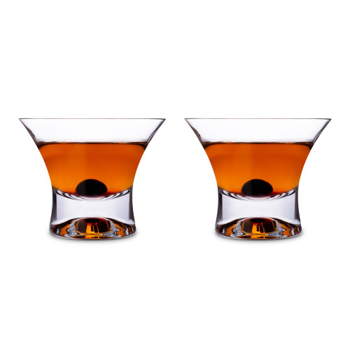 Viski Crystal Manhattan Cocktail Glasses - Set of 2 - 7 oz