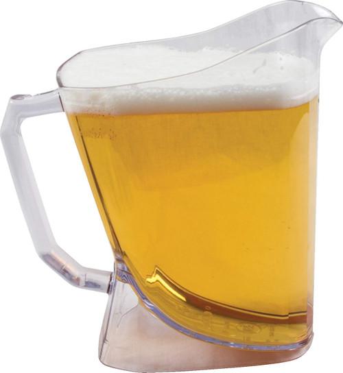 San Jamar Low Profile Perfect Pour Beer Pitcher - 60 oz
