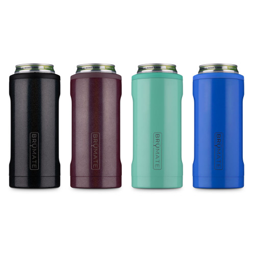 BrüMate Hopsulator Slim - Stainless Steel Triple Insulated Can Cooler - Holds 12 oz Slim Cans