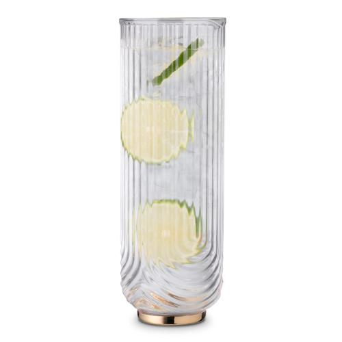 Viski Gatsby Gold Footed Glass Cocktail Carafe - 42 oz