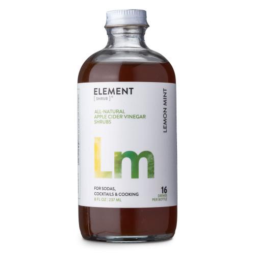 Element Lemon Mint Cocktail Shrub - 8 oz - Made with All-Natural Organic Apple Cider Vinegar