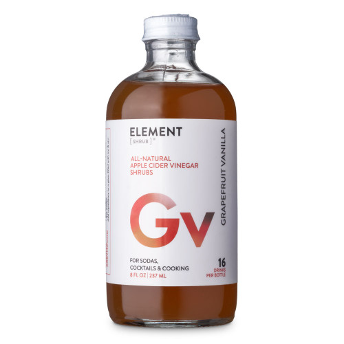 Element Grapefruit Vanilla Cocktail Shrub - 8 oz - Made with All-Natural Organic Apple Cider Vinegar