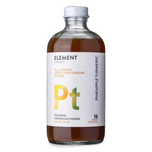 Element Pineapple Turmeric Cocktail Shrub - 8 oz - Made with All-Natural Organic Apple Cider Vinegar