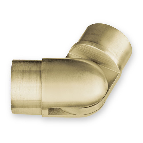 "Adjustable Flush Elbow - Brushed Brass - 2"" OD"