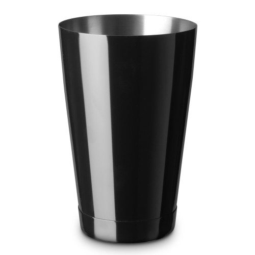 Barfly Gloss Black Short Shaker Tin - Stainless Steel - 18 oz