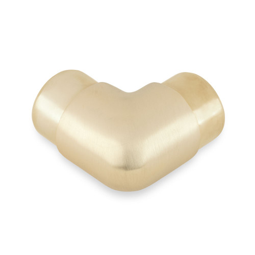 "Flush Elbow Fitting 90 Degree - Brushed (Satin) Brass - 1.5"" OD"