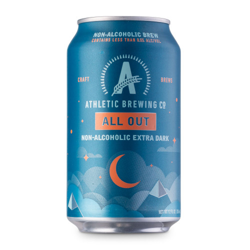 Athletic All Out Stout Non-Alcoholic Near Beer - 12 oz Can