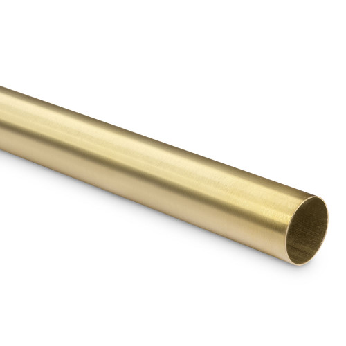 "Bar Foot Rail Tubing - Brushed (Satin) Brass - 1.5"" OD"