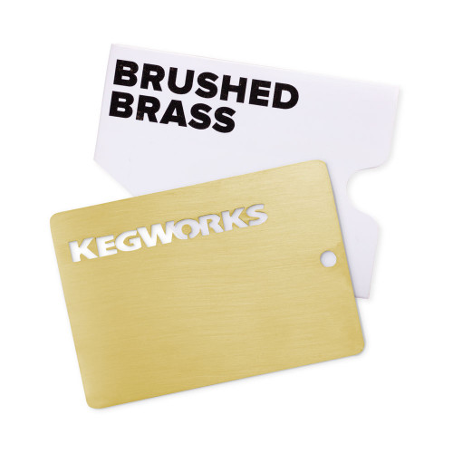 KegWorks Brushed Brass Sample Chip