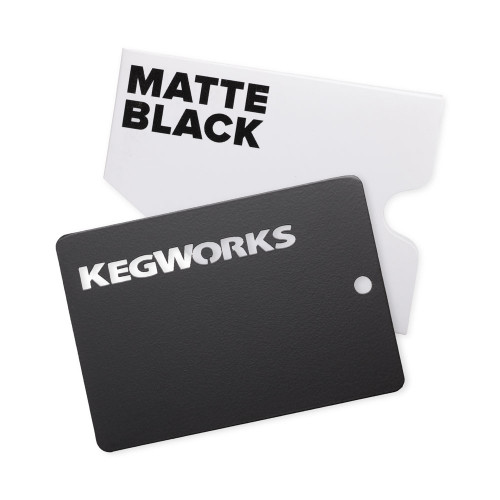 KegWorks Matte Black Sample Chip