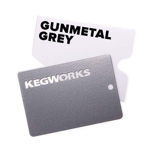 KegWorks Gunmetal Grey Sample Chip