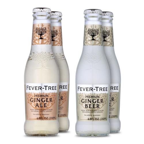 Fever Tree Classic Ginger Beer & Ale Sampler 4 Pack - 6.8 oz