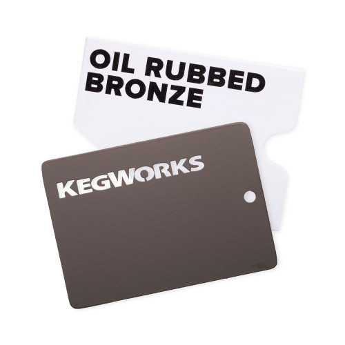 KegWorks Oil Rubbed Bronze Sample Chip