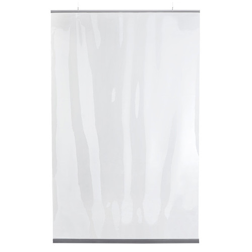 "Hanging Protective Clear PVC Restaurant Partition - 54""W x 84""H"