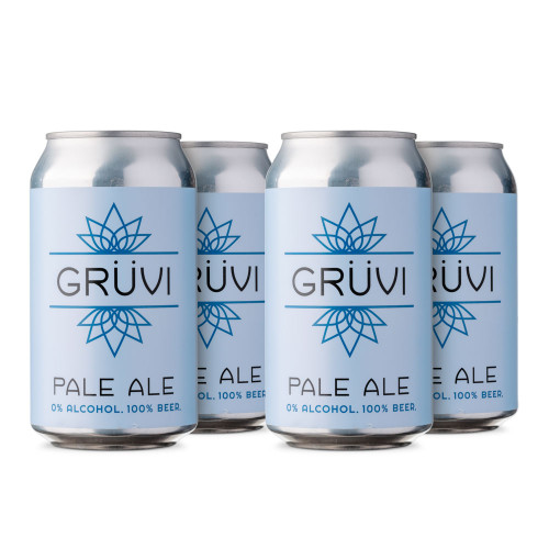 Gruvi English-Style Pale Ale Non-Alcoholic Beer - 12 oz Can - 4-Pack