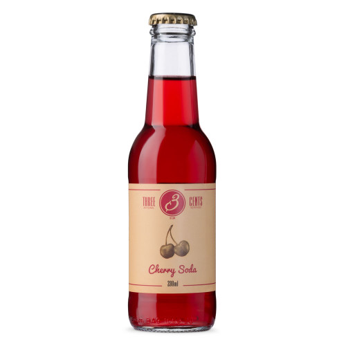 Three Cents Cherry Soda - 6.76 oz Bottle