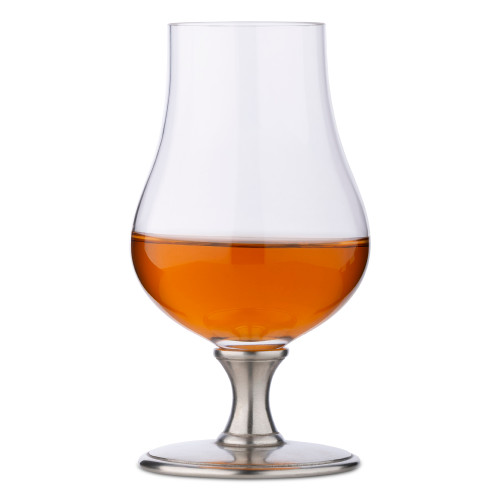MATCH Handmade Italian Pewter Stemmed Whiskey Glass - 8 oz