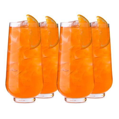 Nude Glass Hepburn Long Drink Glasses - 14.37 oz - Set of 4