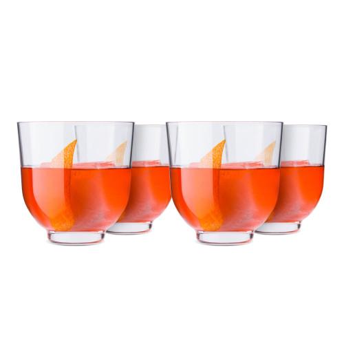 Nude Glass Hepburn Low Ball Glasses - 12.85 oz - Set of 4