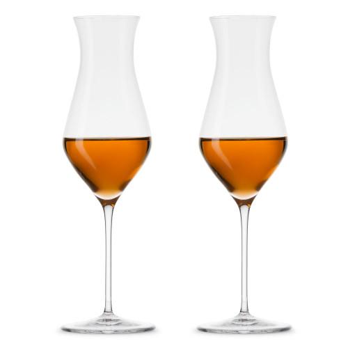 Nude Glass Islands Tall Stemmed Crystal Whiskey Tasting Glasses - 5.75 oz - Set of 2
