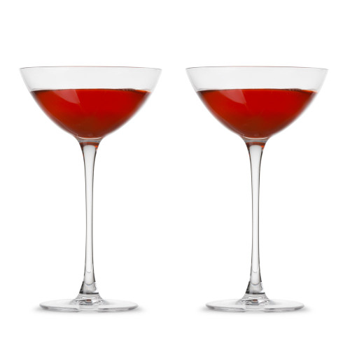 Nude Glass Savage Coupetini Cocktail Glasses - 5.75 oz - Set of 2
