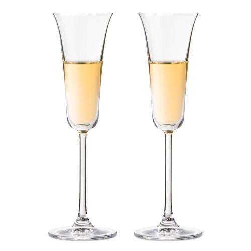 Nude Glass Vintage Crystal Flared Grappa Glasses - 3.72 oz - Set of 2