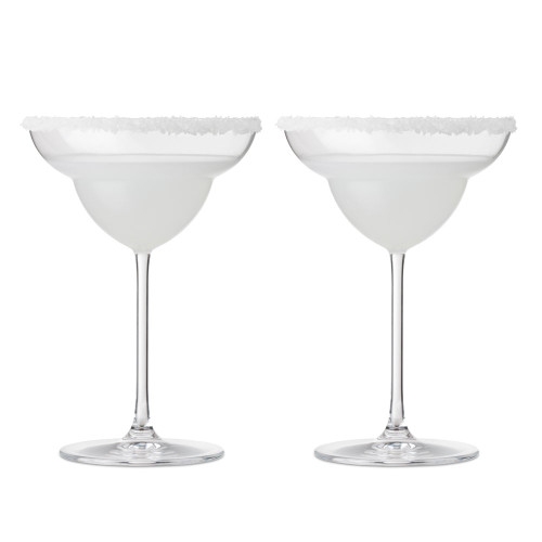 Nude Glass Vintage Crystal Margarita Glasses -13.53 oz - Set of 2
