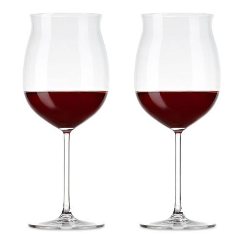 Nude Glass Vintage Grand Bourgogne Crystal Burgundy Wine Glasses - 24.5 oz - Set of 2
