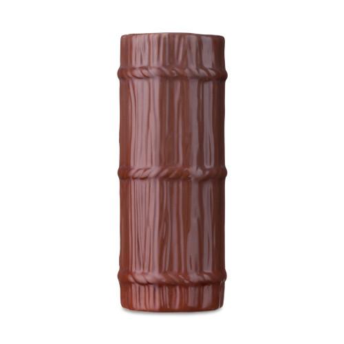 Tall Log Ceramic Tiki Mug - 14 oz