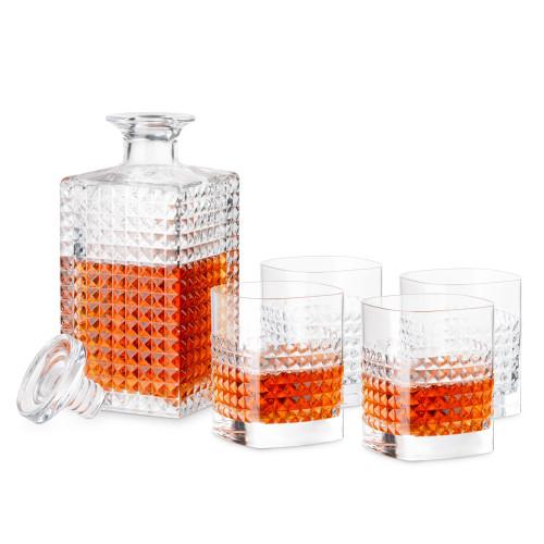 Luigi Bormioli Elixir Spirits Decanter & DOF Tumbler Set - 5 Pieces