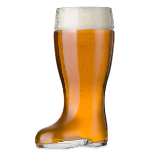 Stolzle Biersiefel Oktoberfest Glass Beer Boot - 35 oz