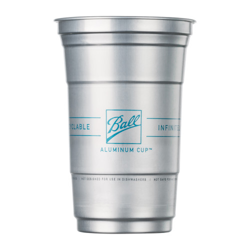 Ball Aluminum Drink Cups - The Ultimate 100% Recyclable Cold-Drink Cup - 20 oz - 10 Pack