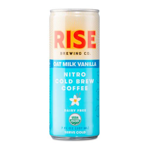 RISE Brewing Co. Oat Milk Vanilla Latte Nitro Cold Brew Coffee - 7 oz Can