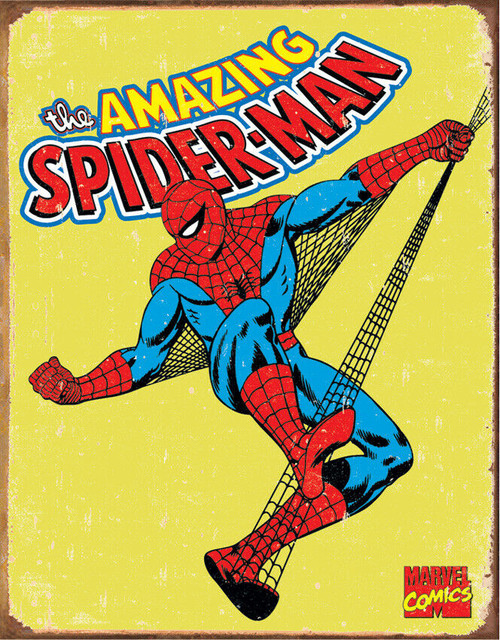 Spiderman Retro Metal Bar Sign