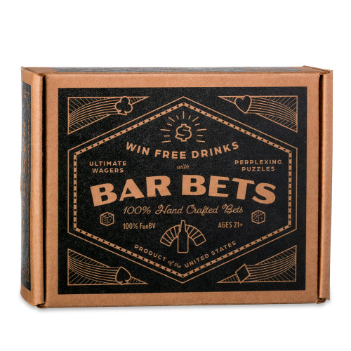 Bar Bets Party Kit - Win Free Drinks - Ultimate Wagers & Perplexing Puzzles
