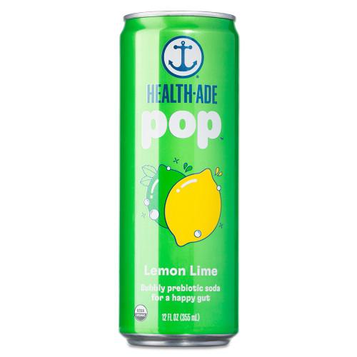 Health-Ade Pop - Lemon Lime - Functional Prebiotics Soda Alternative - 12 oz Can