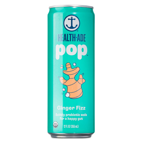 Health-Ade Pop - Ginger Fizz - Functional Prebiotics Soda Alternative - 12 oz Can